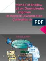 Academic Talk - Performance of Shallow Tube Well on Groundwater Irrigation in Tropical Lowland Rice Cultivation Area