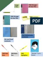 supply list grade four  2015