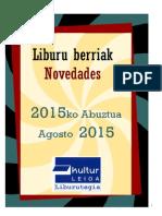 2015eko Abuztuko liburu berriak - Novedades agosto 2015