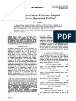 Application of model reference adaptive control to a benchmark problem