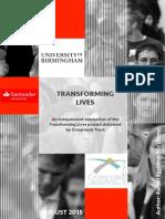 Transforming Lives Birmingham UniversityEvaluation