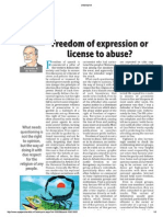 Freedom of expression or license to abuse?