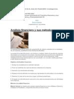 Métodos Utilizados en El Analisis Financiero