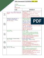 Ibdp Ass%27t Calendar 2015-16