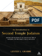 Lester L. Grabbe Introduction to Second Temple Judaism_ History and Religion of the Jews in the Time of Nehemiah, The Maccabees, Hillel, And Jesus