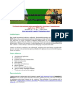 The Fourth International conference on Parallel, Distributed Computing and Applications (IPDCA 2015)