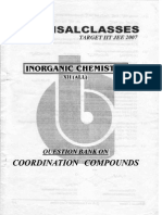 Co Ordination Compounds (Question Bank)