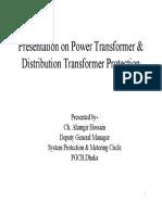Presentation on Power Transformer & Distribution Transformer Protection
