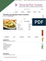 Omelette Aux Asperges Vertes Et Jambon (Facile, Rapide) - Une Recette CuisineAZ