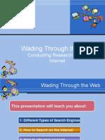 through the web