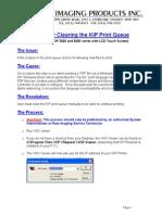 Manually Clearing Print Queue