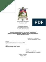 ANÁLISIS DE ESCENARIOS Y ESTUDIO DE UN BALANCE HÍDRICO CON APLICACIÓN AL EMBALSE MACUL 1 EMPLEANDO EL PROGRAMA -HEC-ResSim