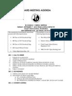 board meeting agenda 9 1 15