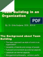 8. Teambuilding in an Organization