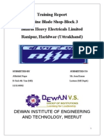 Turbine Blade Shop-Block 3 Bhel.doc