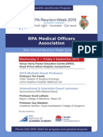 RPA Reunion Week 2015 Program Final