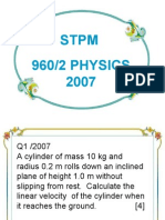 Stpm 960/2 Physics 2007