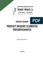 Przepusty Drogowe Prefabrykowane 2007 - Transprojekt Warszawa