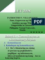 Patrocinio v. Villafuerte Puno, Kagawaran Ng Filipino