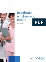 Randstad - Healthcare Employment Report - Q1 2012