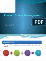 Project Scope Management- PMP
