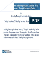 Staffing Industry Analysts - Annual Review & Predictions for 2012 - 13 December 2011