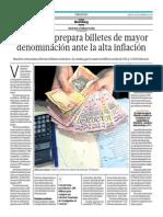 Venezuela Prepara Billetes de Mayor Denominación Ante La Alta Inflación