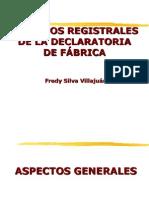 Aspectos Registrales Declaratoria de Fabrica