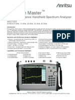 SPECTRUM ANALYSER DATA SHEET