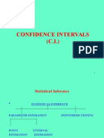 3301 Topic 10 Confidence Intervals