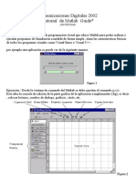 Comunicaciones Digitales 2002 Tutorial de Matlab Guide*