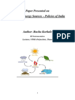 Renewable Energy Sources – Policies of India