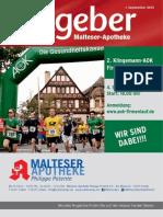 Ratgeber aus Ihrer Malteser-Apotheke – September 2015