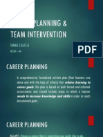 Career Planning and Team Intervention