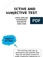 Objective and Subjective Test