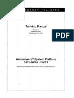 ArchestrA Training Manual - Class 1