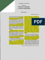 Sarlo, B. - Cabezas Rapadas y Cintas Argentinas