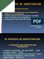 EL PROCESO de Investigacion Cientifica y Tecnologica