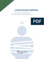 The Over-criminalization Epidemic