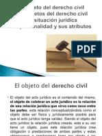 objeto del derecho civil