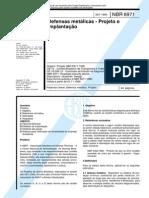 NBR 6971- Defensas Metálicas - Projeto e Implantação