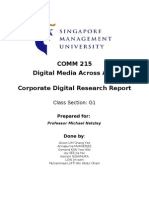 Corporate Digital Research Report - Project 8