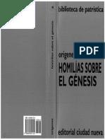 Orígenes Homilías Sobre El Génesis