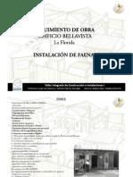 Instalación de Faenas - Uniacc