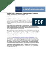 Comunicado de La FDA