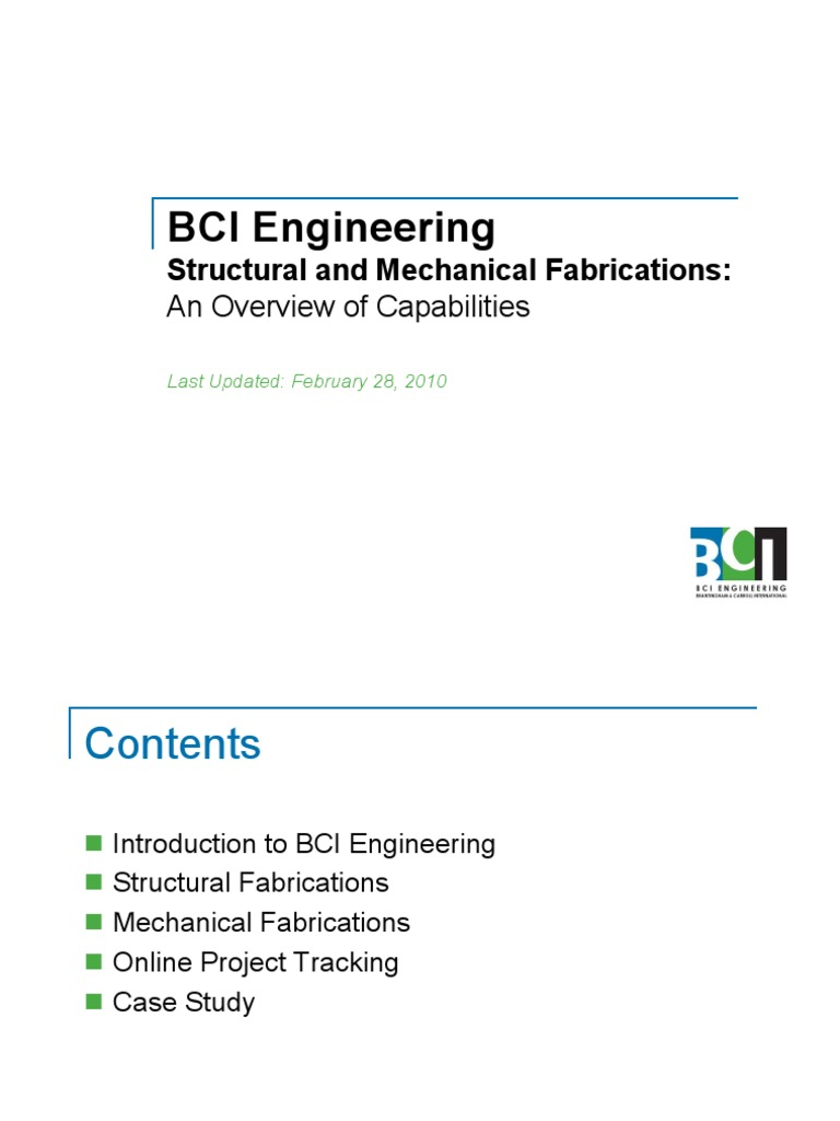 Bci capabilities fabrications metal fabrication structural steel yadclub Gallery