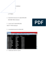 Working on Sample Database