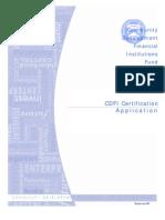 Community Development Financial Institutions Fund