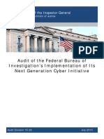 Department of Justice Inspector General Audit of FBI Next Generation Cyber Initiative