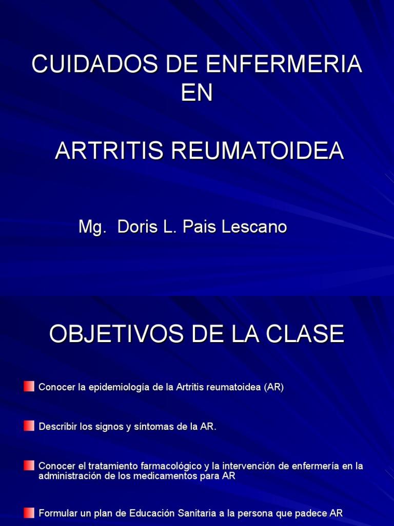 Cuidados De Enfermeria En Artritis Reumatoidea Artritis Reumatoide Artritis